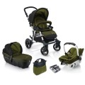 concord-conjunto de carrinho de passeio fusion travel set lime